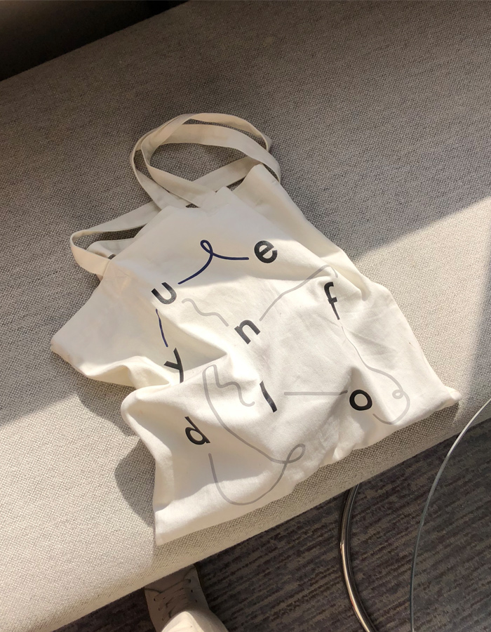 yue x unfold eco bag [ 화이트 ]