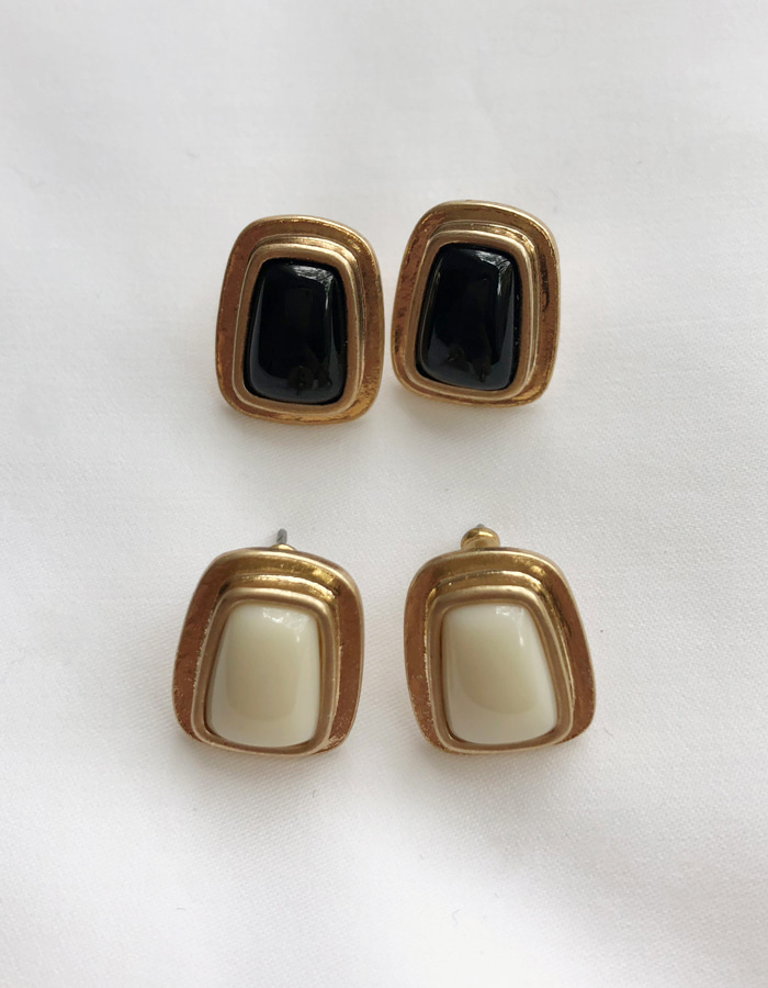 antique square earring